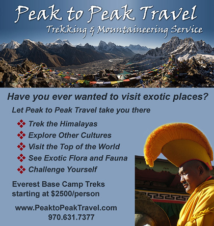 Peak to Peak Travel magazine ad